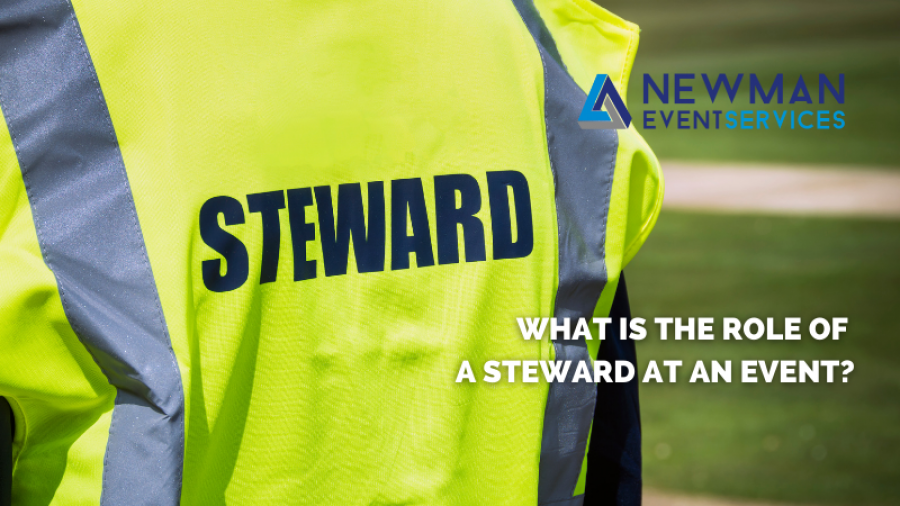 What is the role of a steward at an event?